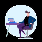 ilustración comercia portal de clientes
